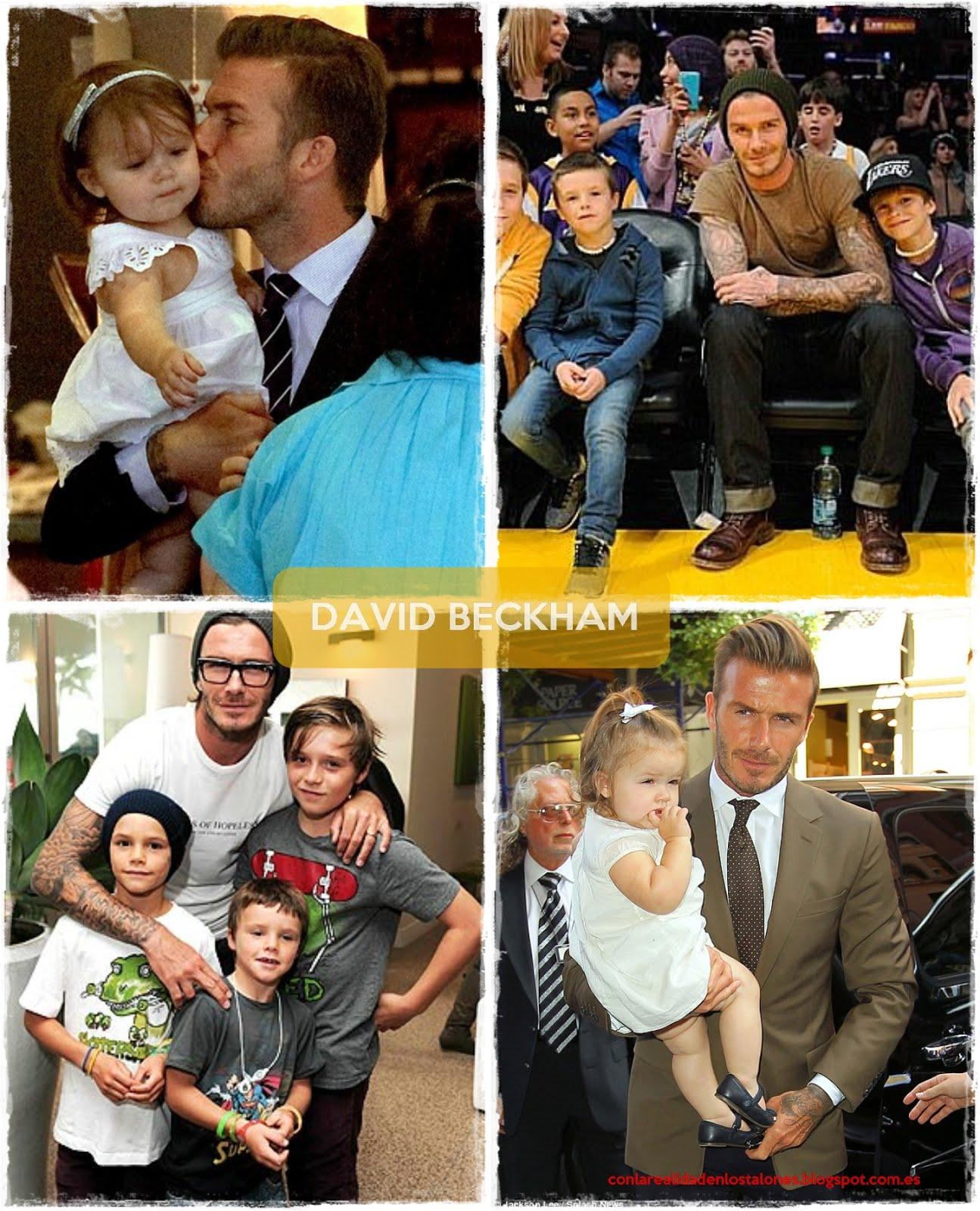 David Beckham e hijos