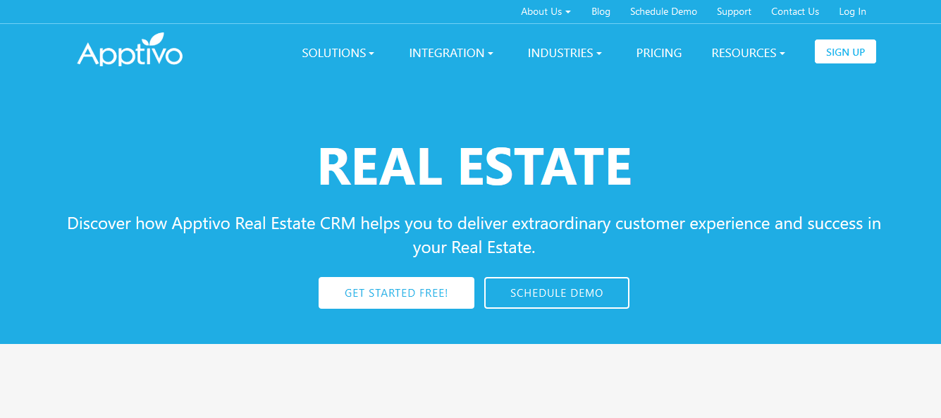 Apptivo free CRM software for real estate