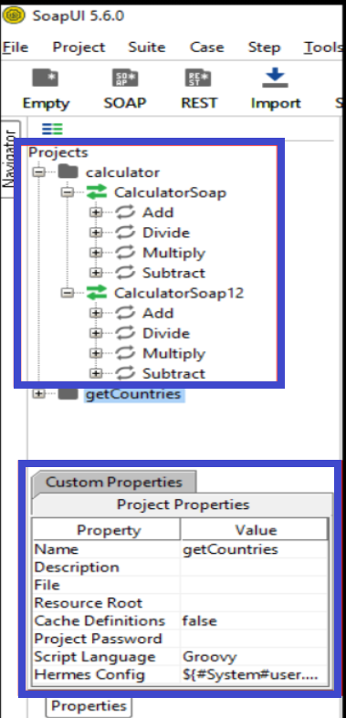 Project calculator's various services