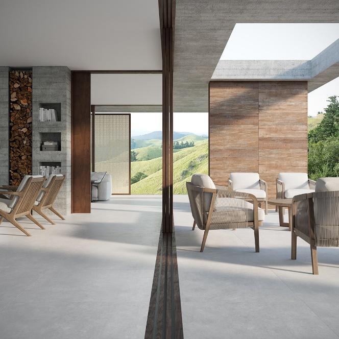 Casa com mesa e cadeiras  Descrição gerada automaticamente