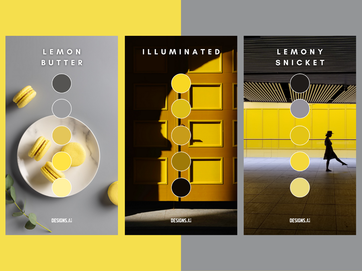 Designs using Lemon butter, Illuminated and Lemony snicket color palettes.