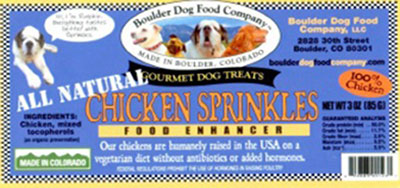 Boulder Dog Food Company CHICKEN SPRINKLES NET WT 3 OZ