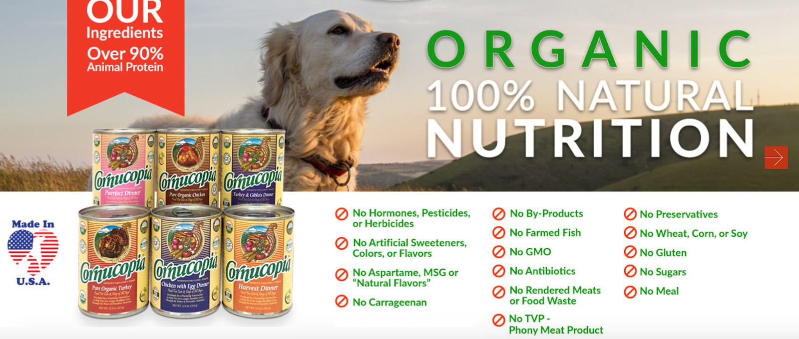 Certified Organic Canned Dog Food