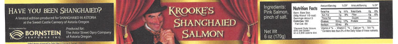 Label, Krooke's Shanghaied Salmon