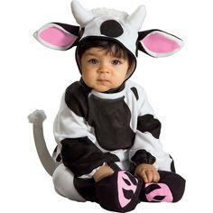Infants Cozy Cow Halloween Costume 0-6M - Rubie's, Black