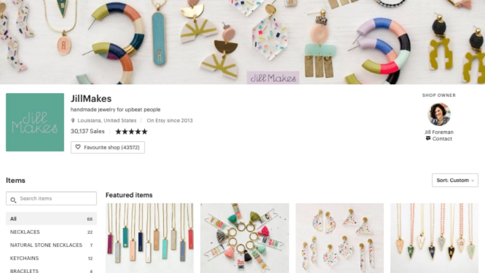 personal branding - Jill Makes on Etsy