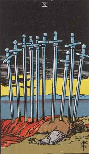 The Meaning of the Ten of Swords