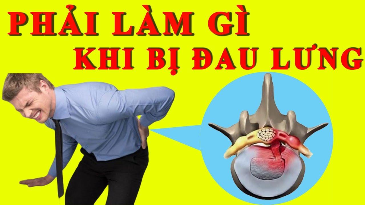 Phải làm gì khi bị đau lưng