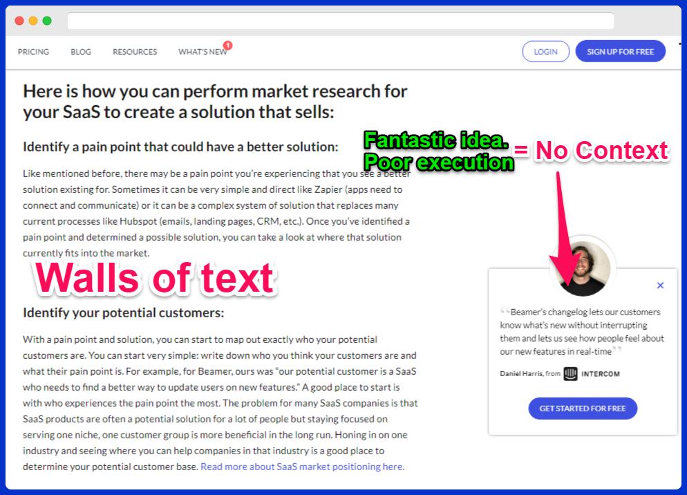getbeamer product-led storytelling