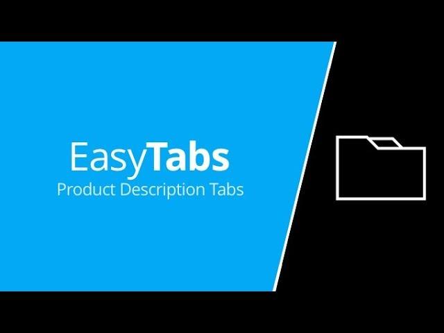 EasyTabs - Product description generator