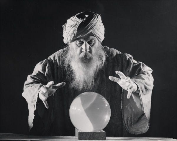 Fortuneteller and his crystal ball #9509303 Framed Prints, Wall Art