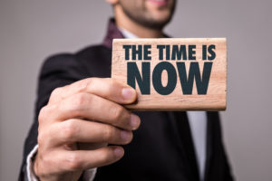 the time is now image