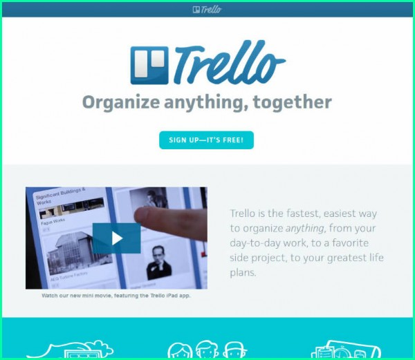 Trello product screenshots