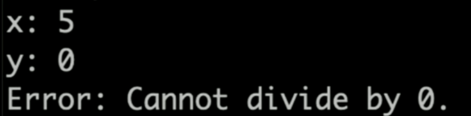 Divide by 0 exception