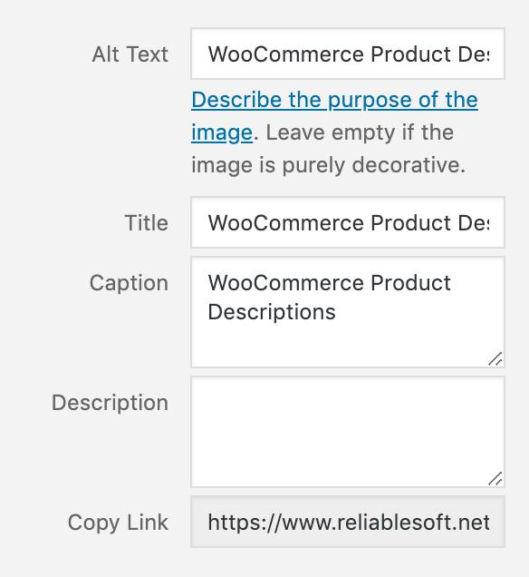 Installing SEO image WooC Commerce