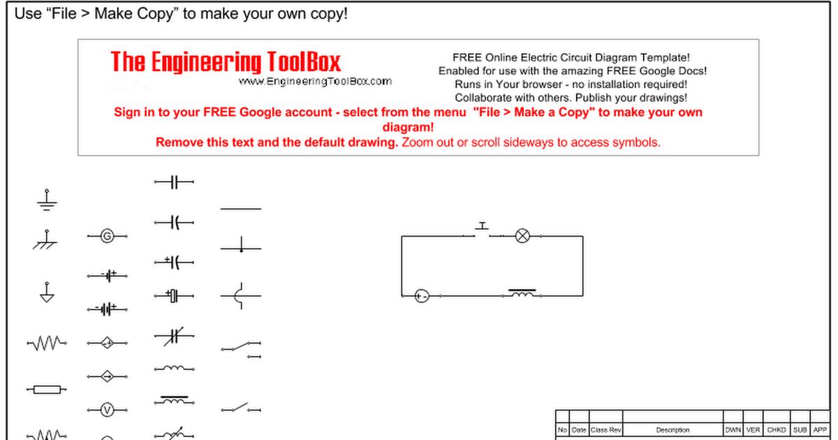 Electric Circuit Diagram Template - Google Drawings | Hvac Diagram Drawing Template |  | Google Docs