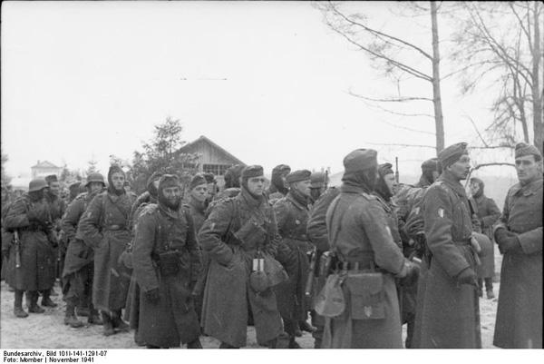 Russland-Mitte, Soldaten der franzцsischen Legion