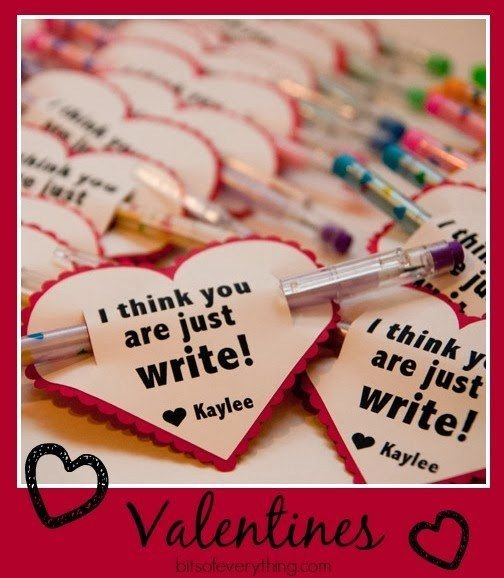 pencil heart valentine - Valentines For Students