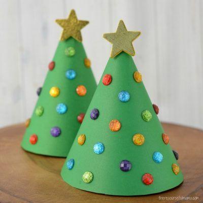 Vyrábění s dětmi- vánoční stromeček z papíru, jednoduchý návod na vánoční tvoření.