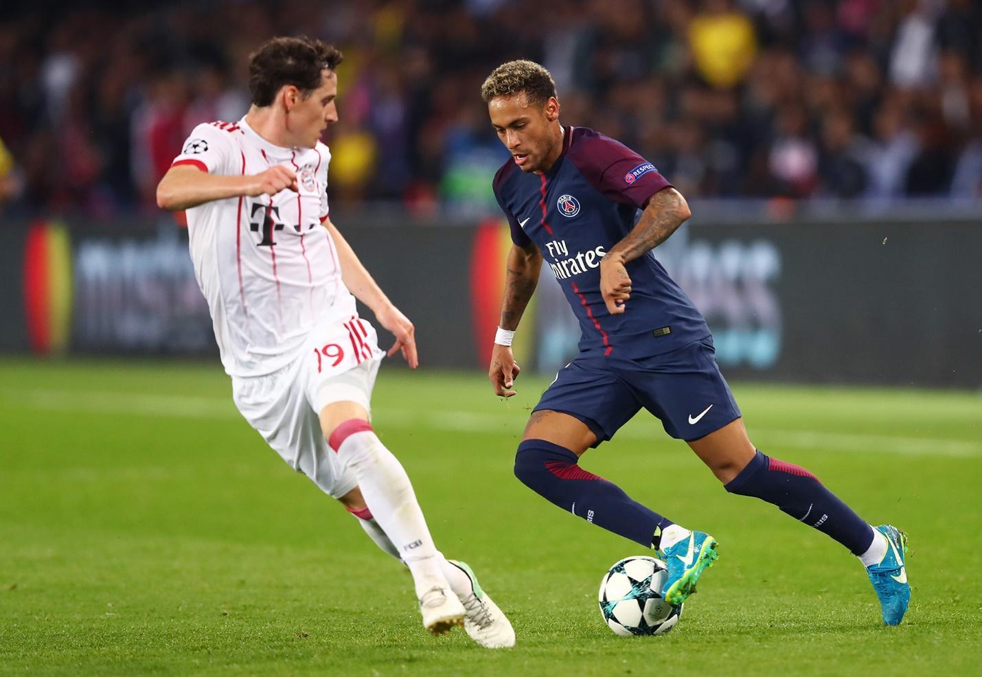 Neymar đã có những giây phút khấy đảo hàng phòng ngự Bayern trong lần đối đầu gần nhất