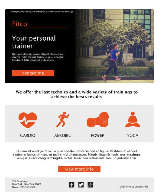 Fitness templates can get personal and versatile.