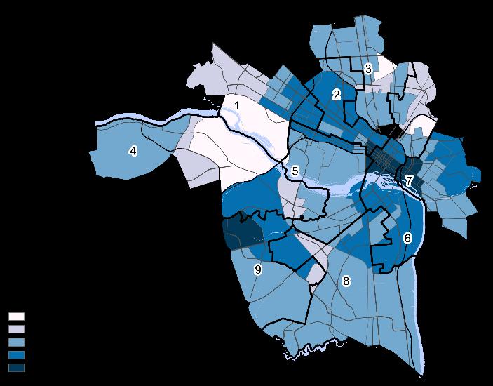 Renter Households - White Non Hispanic or Latino