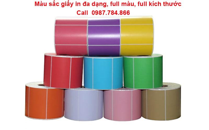 Giấy in mã vạch 1 tem full kích thước và màu sắc được in và bế tại An Thành