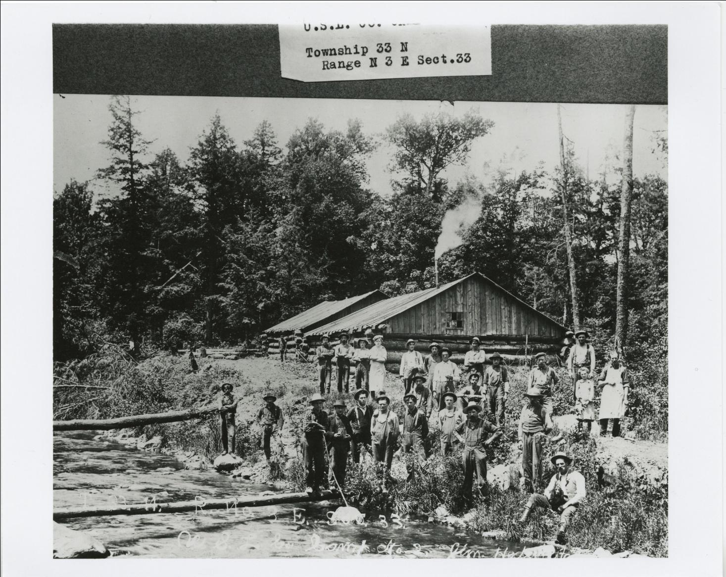 "C:\Users\Robert P. Rusch\Desktop\II. RLHSoc\Documents & Photos-Scanned\Rib Lake History 10700-10799\10792-P. ""US Leather Company Camp 2, Township 33 N, Range N .jpg"