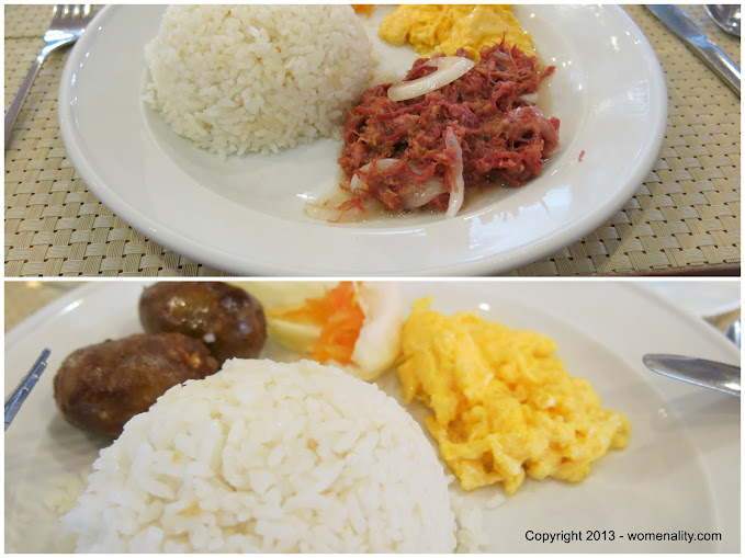 Golden Pine Breakfast - Longanisa and Corned Beef Baguio City Philippines