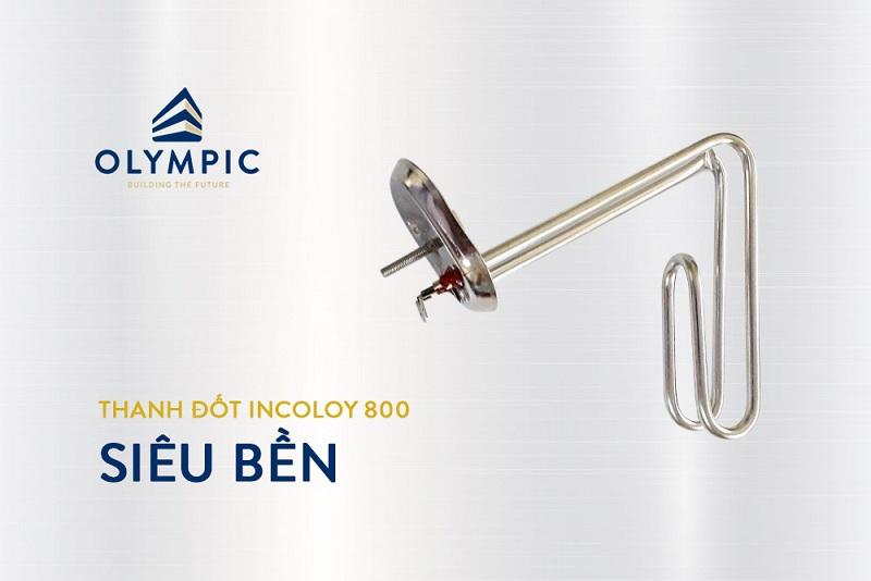 Bình nóng lạnh Olympic với thanh đốt nhập khẩu từ Ý