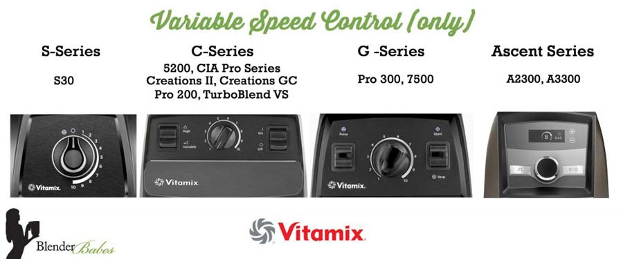 Vitamix speed control
