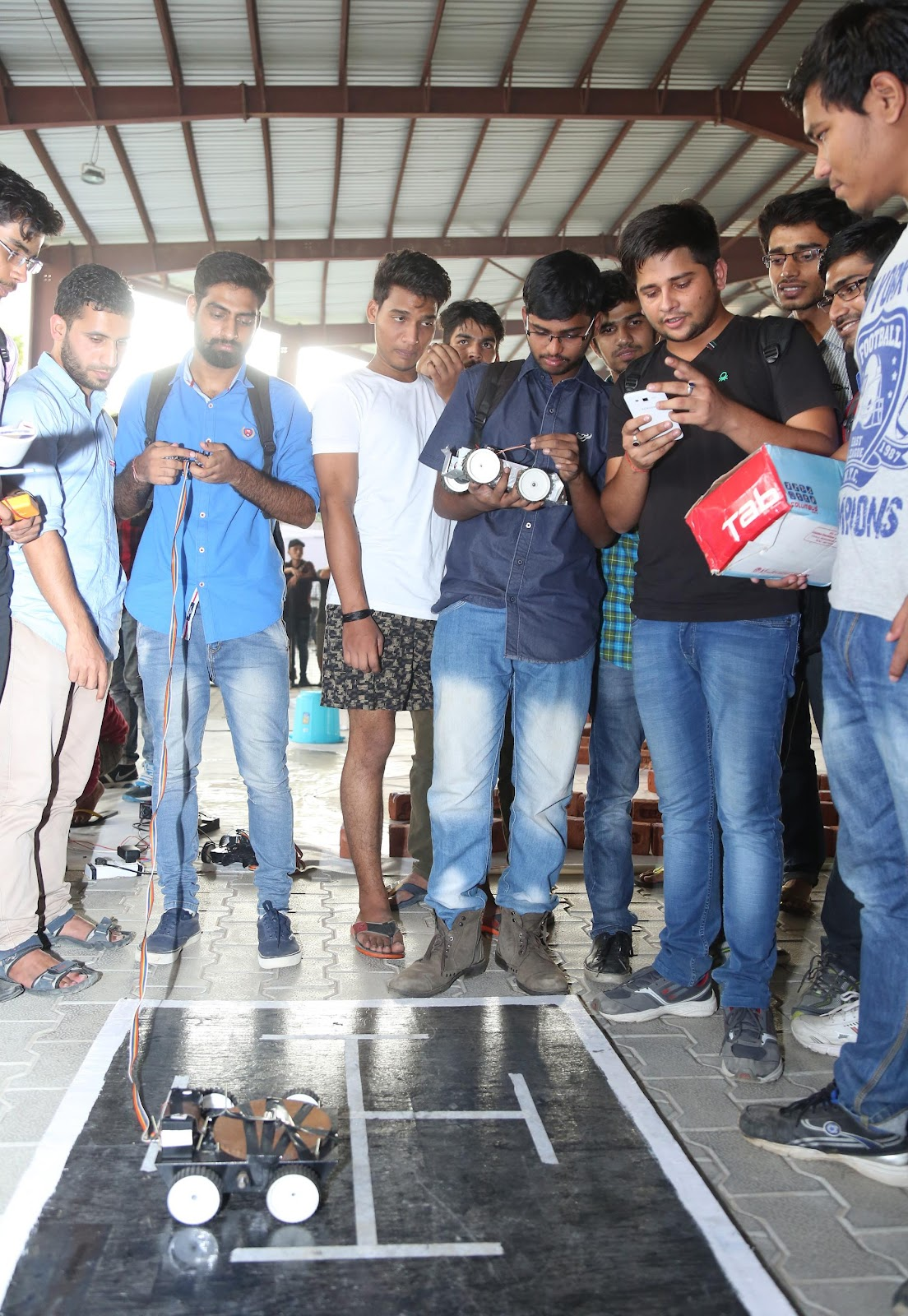 Students participating in technical events competition during concluding day of Youth Vibe fest at LPU.JPG