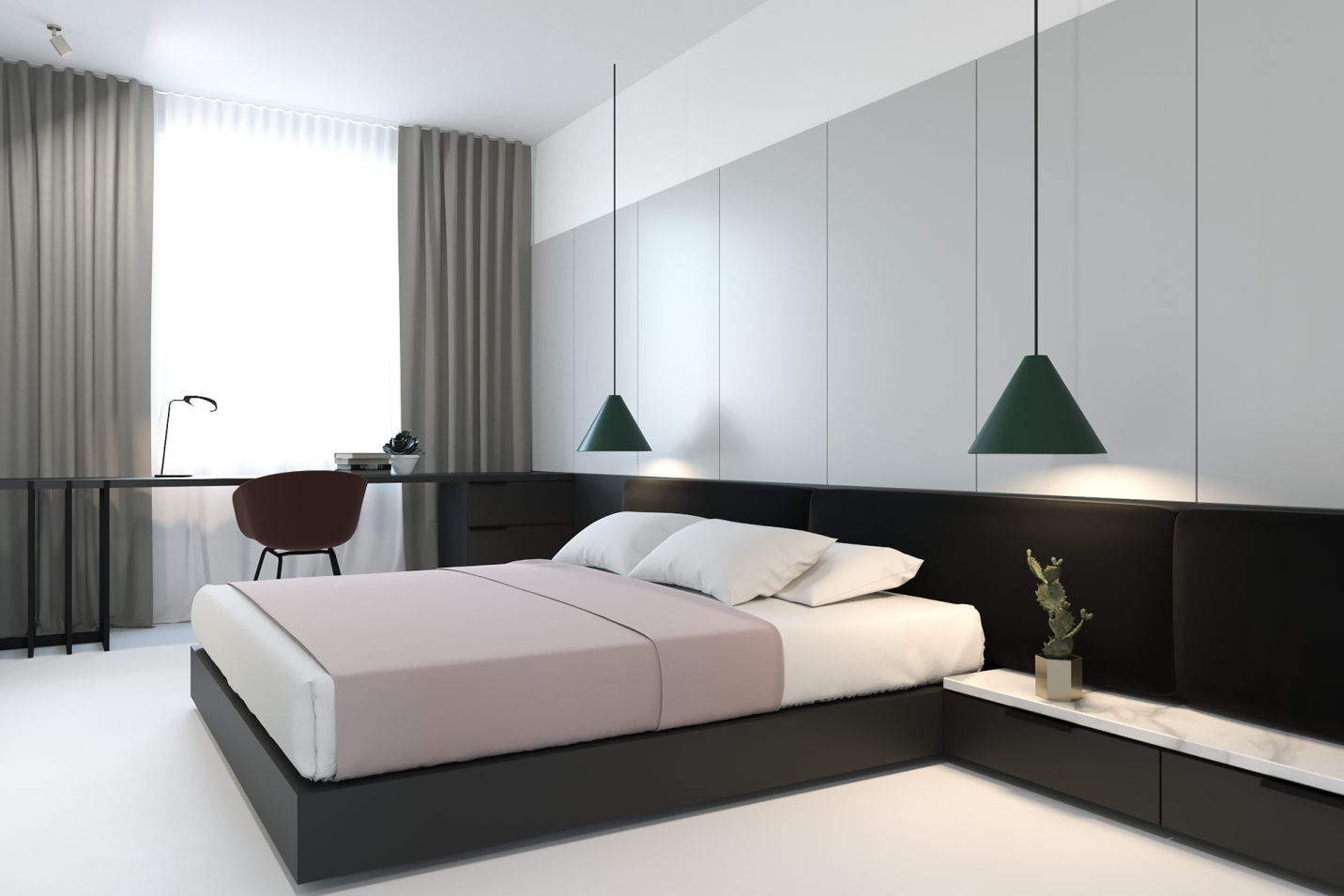 Nội thất phòng ngủ hiện đại đơn giản 2