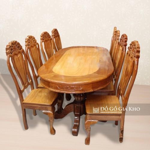 Mẫu bàn ăn 8 ghế nhiều người mua
