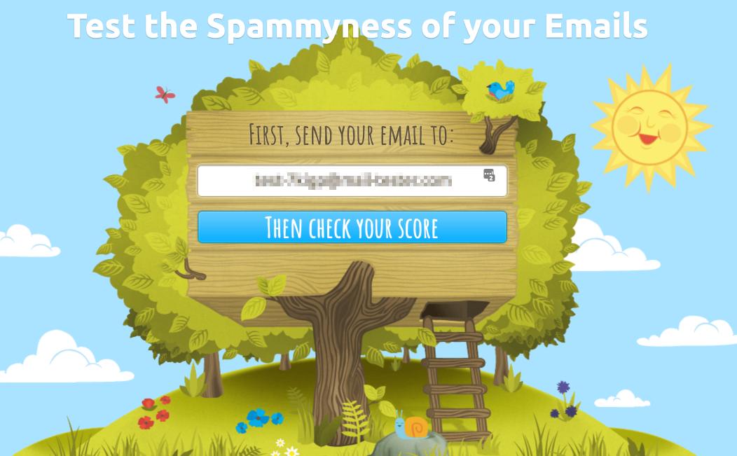 Mail-tester.com spam tester.