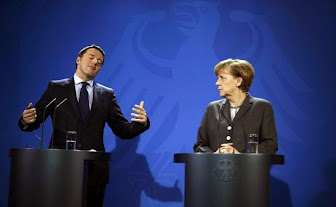 """Renzi a Berlino: """"L'Italia, non vuole cambiare le regole"""""""