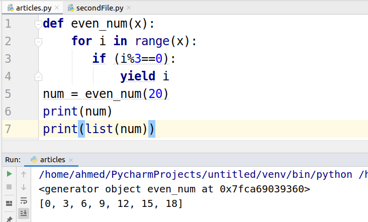 Yield in Python Tutorial