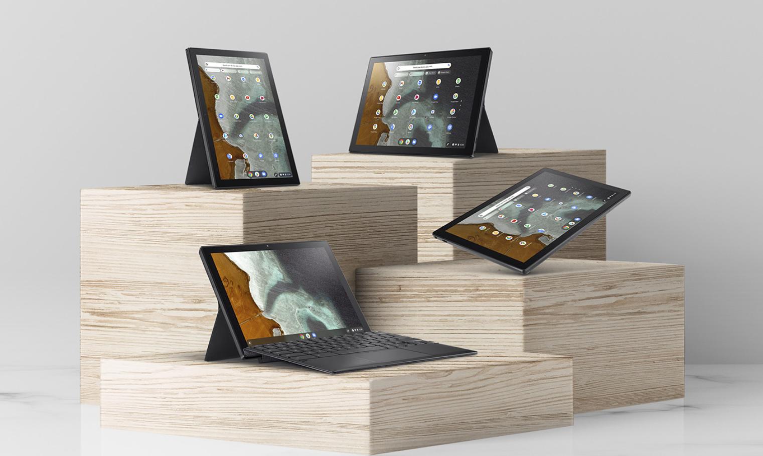 L'Asus Chromebook détachable CM3 les différentes position