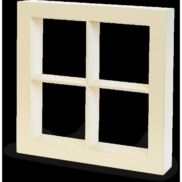 Window Shadow Box—Ivory