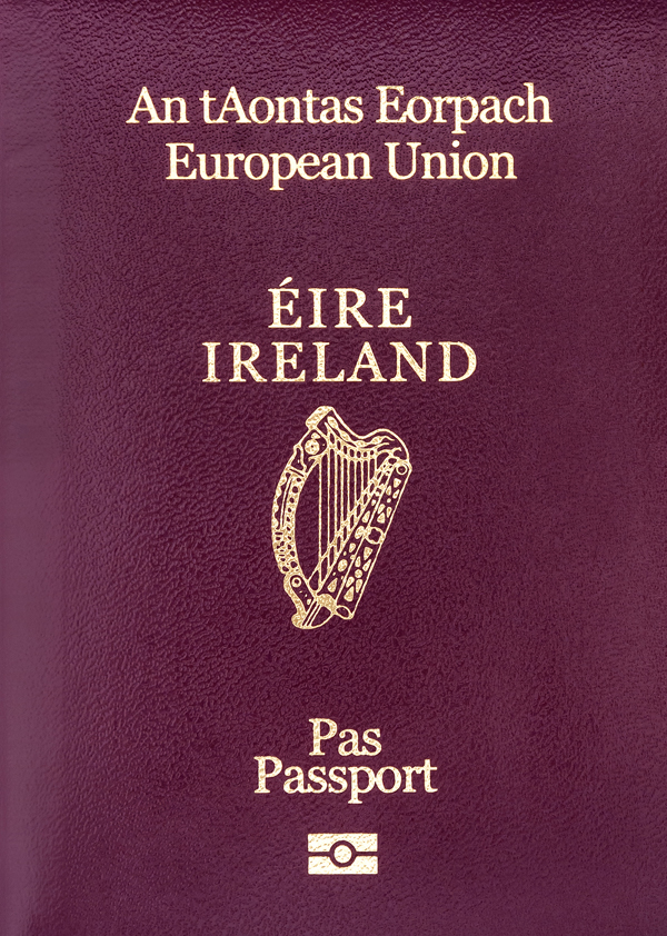 Irish passport holders