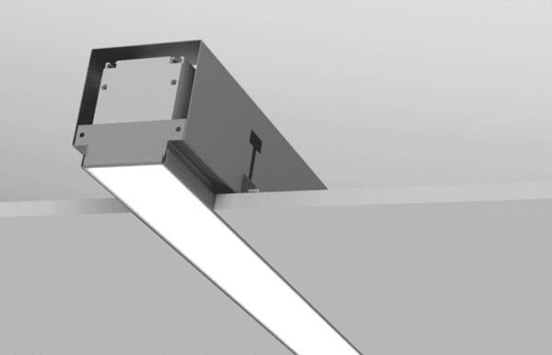 exemplo de luminária embutida em placa de drywall