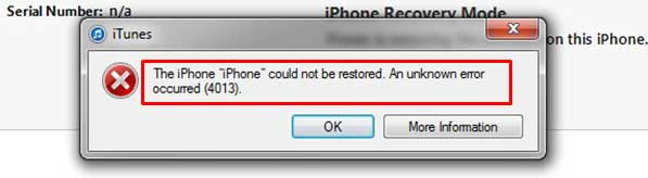 Cách khắc phục iPhone X lỗi 4013 mà không làm mất dữ liệu