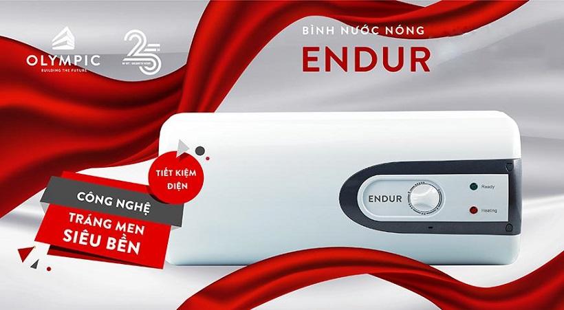 Bình nóng lạnh Olympic Endur- tráng men titan gấp 3 lần