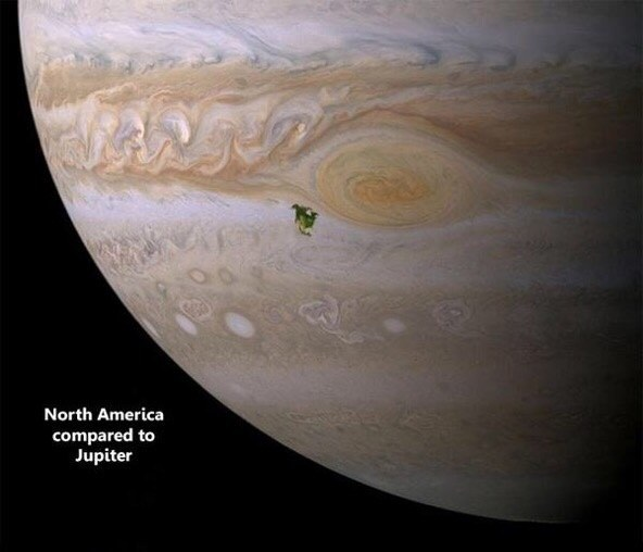 But let's talk about planets. That little green smudge is North America on Jupiter.