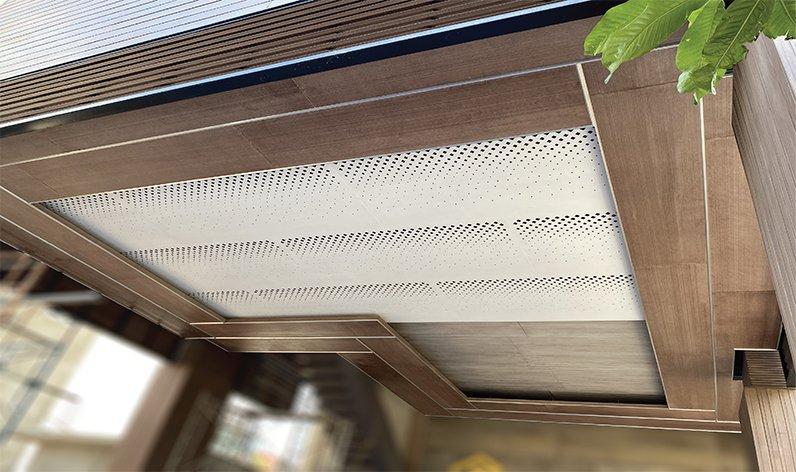Dòng thanh gỗ xi măng viền trần/viền khung cửa Concrete Wood