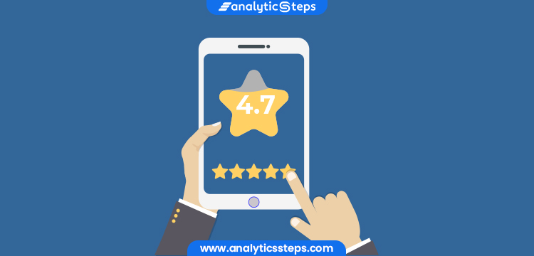 The image shows a satisfied customer rating a service