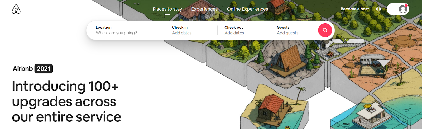 Screenshot of Airbnb - Travel Search Engine