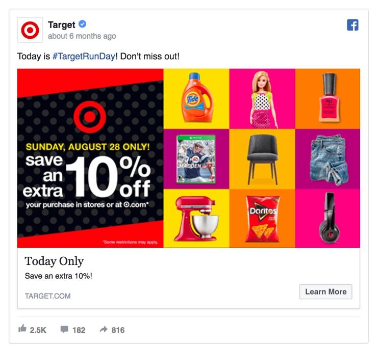 10 Facebook tips for E commerce -  Audience urgency