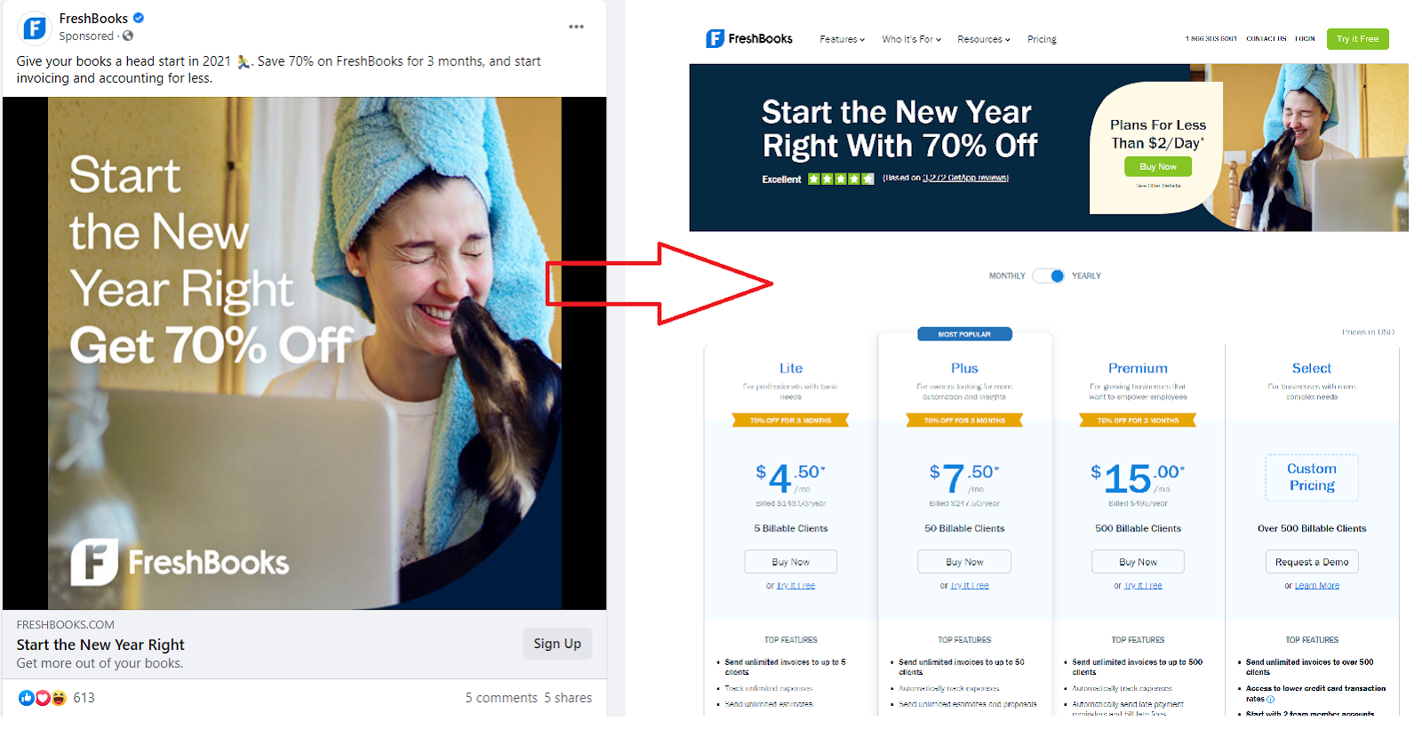 landing page continuity for facebook ppc