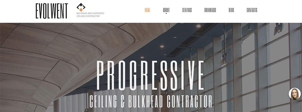 template de site para negócio de arquitetura envolwent